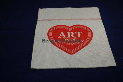 Dweil met de opdruk van een rood hart en de tekst Hart voor vastenavend