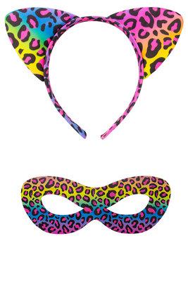 Tiara mask set panter multicolor