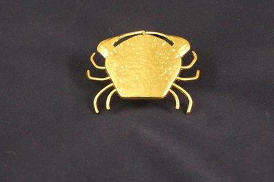 koperen krab voor rond je zakdoek.