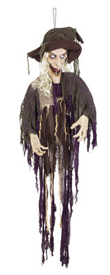 St. Decoratie Laughing witch (170 cm)