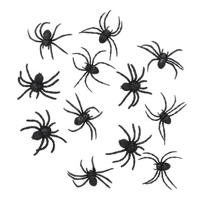 12 Spiders 5x6cm