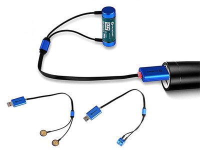 Olight Universele Lader (kabel) voor oplaadbare batterijen
