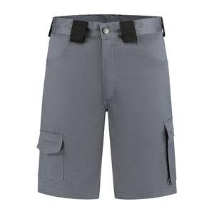 Bermuda katoen/polyester grijs-zwart